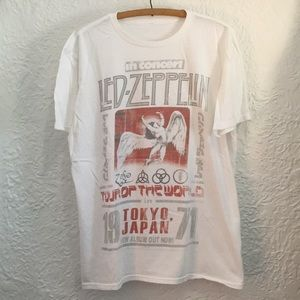 Led Zeppelin Tour of the World Tee Shirt Tokyo 71